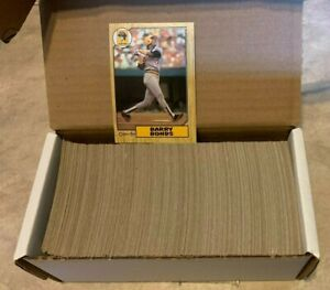 1987 O-PEE-CHEE Canadian Toopps Baseball Cards Complete Set 1-396 w/ Bonds RC