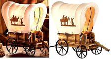SOUTHWESTERN COWBOY WESTERN WAGON WHEELS & COVER TABLE DESK CABIN LAMP ** NIB