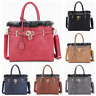 Women Ladies Faux Leather Fashion Designer Fluffy Fur Trim Tote Shoulder Handbag