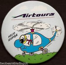 Button Badge: Airtours International Airways - Helio Kopter