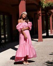 H&M Puff Manga Algodón Vestido Rosa Grande (16/18) tendencias bloggers agotado