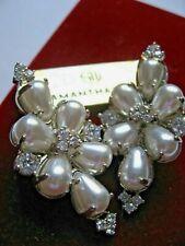 Samantha Wills Bridal Silver Pearl Crystal Earring Infinite Dreams NWT $199