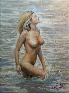 Original Painting by American Artist Grace Eun Jung / Nude #GEJ-0249AC19