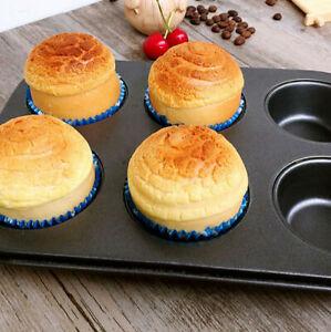 6 Cup Baking Cake Muffin Tray Non Stick Steel Tray Cupcake Baking Mold DIY