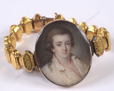 """French gilt-metal bracelet with portrait miniature on organic wafer"", ca. 1790"