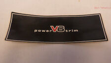 Vintage ..Power  V6 Trim  decal  1970s unused  boat car motorcycle sticker