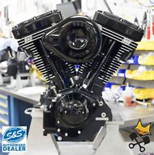 S&S V124 BLACK EDITION ENGINE COMPLETE FOR HARLEY 1984-'99 EVO MOTOR 310-0925