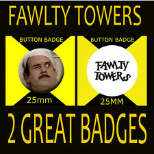 FAWLTY TOWERS - JOHN CLEESE - BASIL - CULT TV - BUTTON BADGE 25mm