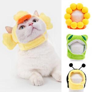 Pet Dog/Cat's Hat Cartoon Animals Shape Headwear Cosplay Costume Props