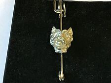 """Kilt Pin Pewter 3"""" 7.5 cm Westie's Head Tg26 Pewter Scarf and"""