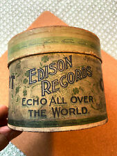 Edison Concert Phonograph Cylinder and Box