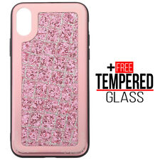 For iPhone X XS Bling Glitter Sparkly Soft Silicone Case Shockproof Cover Pink