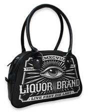DTO. -10% ! Bolso Bowling Pequeño Eye LIQUORBRAND women bag Rockabilly
