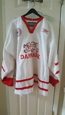 New ListingDenmark Danish europe Nhl Hockey Euro Jersey Madsen Xxl goalie 58 game used