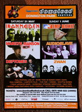 IRON MAIDEN DOWNLOAD Festival promo flyer original 20 x 15 Marilyn Manson