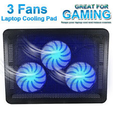 "Laptop Cooling Pad 11"" - 17"" Inch Cooler Stand Coolpad Fan Mat External Notepad"