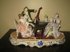 """Large 17 """" Sitzendorf porcelain group of 3 Musicians, made in Germany"""
