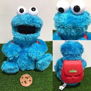 Sesame Street Count 'N' Crunch Cookie Monster talking toy Hasbro 2010 + 1 Cookie