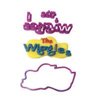 Wiggles Logo Cookie Fondant Cutter Birthday Cake Decorating 5cm 7cm 10cm Set