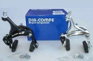 Brake Caliper DiaCompe Racing Road Bike Rear 43-57mm Reach,190g, Black or Silver