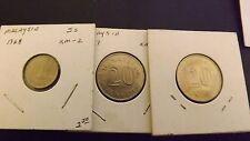 MALAYSIA 20 SEN 1967&82 BOTH GEM +5 CENT 1968 CHOICE