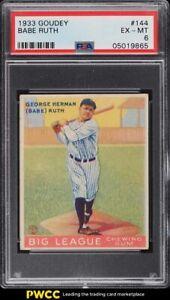 1933 Goudey Babe Ruth #144 PSA 6 EXMT