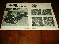KURTIS BLOWN CADILLAC SPORTS CAR  ***ORIGINAL 1958 ARTICLE***