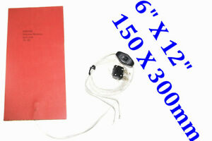 "6"" X 12"" 150 X 300mm 12V 35W 3M w/ 5mm Insulation RV Water Tank Heater De-icer"