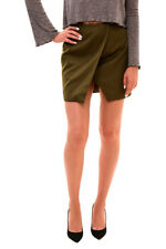 Finders Keepers Women's Sweet Talker Wrap Mini Skirt Khaki S RRP  $125 BCF710