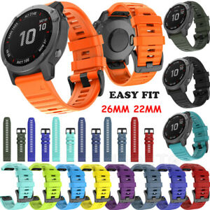 Silikon Armband für Garmin Fenix 6 Pro 6X 5 5X Plus 3 HR Forerunner 945 935 S60