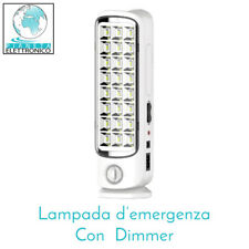 LAMPADA RICARICABILE A LED ANTI BLACK-OUT CON DIMMER 24 LED - GBC 38800210