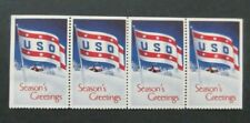 Us/Uso-1941-Strip of 4 Greeting stamps-Mnh Cinderellas