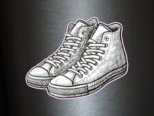 1 x Aufkleber Converce All Star Sneakers Schuhe Stickers Mode Style Fun Gag Jung