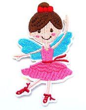 Ballerina Ballet Iron On Patch- Dancer Kids Cartoon Character Badge Applique Sew