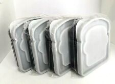 Lot Of 4 Sandwich Lunch Boxes Kids Lunch Box Sandwich Containers