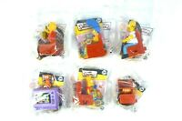 2008 The Simpsons Burger King Kids Meal Toy - Full set - Lot of 6 -