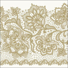 4 x Paper Napkins Lace Frame for Decoupage and Crafting Table 203