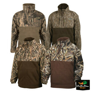 DRAKE WATERFOWL YOUNG GUNS YOUTH MST EQWADER PLUS 1/4 ZIP CAMO COAT PULLOVER