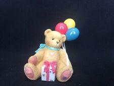 L@K 1996 Enesco Cherished Teddies Priscilla Hillman 215864 Nina Happy Birthday