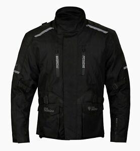 GREAT BIKERS GEAR Cordura Black Motorcycle Motorbike Jacket Motocross protection