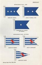 URUGUAY ARMY/AIR FORCE FLAGS. Inspector General. Commander. Chief of Staff 1958