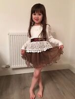 New long sleeved Kids beautiful Party dresses for girls 2-7Yrs