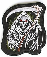 Grim Reaper Death Sons of Anarchy Iron/Sew On Patch - Approx 10x10cm