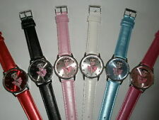 BETTY BOOP LADIES WATCH, WHITE, EASY TO READ QUARTZ MOVEMENT AND LEATHER BAND