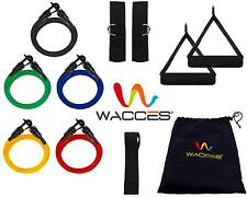 NEW 5 RESISTANCE BANDS SET for YOGA ABS GYM WORKOUT + Ankle Straps & Door Anchor