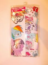 Hasbro My Little Pony Girls 7-Pack 100% Cotton Tag Free Brief Panties Size 6