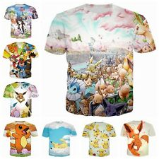 Newest Fashion Women/Men Pokemon Pikachu Funny 3D Print Casual T-Shirt K2211