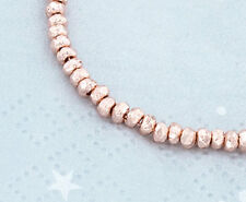 Karen hill tribe Rose Gold  Vermeil Style 30 Faceted Nugget Beads 2.8x2mm.