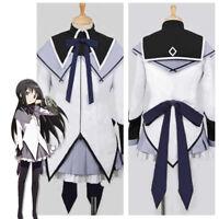 Puella Magi Madoka Magica Akemi Homura Cosplay Costume Party Dress Outfit