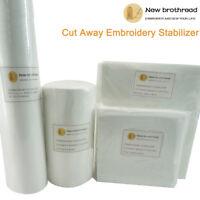 Medium Weight 2.5oz Cut Away Machine Embroidery Stabilizer Backing